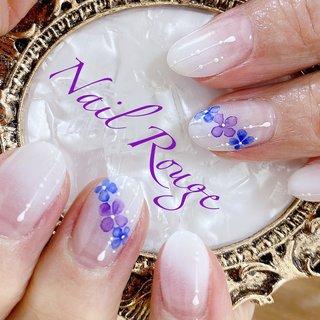 店長指名限定デザイン #紫陽花ネイル #梅雨 #nailrouge #ネイルブック