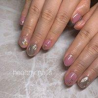 #オールシーズン #ハンド #ショート #healthy nails #ネイルブック