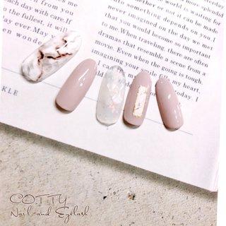 #ハンド #ピンク #天然石ネイル #手描きネイル #定額ネイル #cotty_nail #ネイルブック