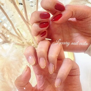 ". . ""Red × studs line...asymmetry style "" . アシンメトリーが浸透してきて嬉しい❤️めちゃくちゃオシャレに決まるの🤗 . #luxurynailvoila #nail #nails #naildesign #asymmetrynail #rednails💅 #studsnails #nailstagram #nailporn #naillove #fashion #fashiongram #beautiful #luxury #小岩ネイル #小岩ネイルサロン #アシンメトリーネイル #夏ネイル #ジェルネイル #スタッズネイル #赤ネイル #ファッションネイル #オシャレネイル #ネイル #ネイルデザイン #大人ネイル #Nailist maki #ネイルブック"