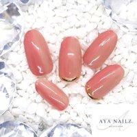 Daily nail designs.💅✨ 小技の効いた、ベーシックカラーネイル。 ・ バイカラーのグラデーションが仕込まれてます😎✨ ・ ベージュ系のシンプル大人ネイルもたくさん揃えております♪  #nails #nail #naildesigns #nailsofinstagram #gelnails #ベーシックネイル #大人ネイル #fashion #fashionnails #beautynails #AYANAILZ #オールシーズン #シンプル #グラデーション #ベージュ #ピンク #ジェル #ネイルチップ #AYA #ネイルブック