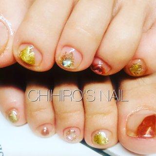 2020.05.20 . CHERO Nail. . フット👣ネイル🌟   . #シンプルネイル #フットネイル #夏ネイル #nail  #cheronail #private nail salon  #大阪 #オールシーズン #フット #シンプル #ジェル #お客様 #chihiro_nail❤68 #ネイルブック