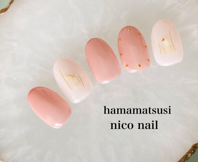 新色マオジェルを使ったシンプルネイルです。💕  可愛い色合いのピンクで、優しい雰囲気に・・☘  シェルやヤーン、スタッズでアクセントをつけました。💫  #マオジェル #ピンクネイル #ピンク #シンプルネイル #上品ネイル #大人可愛いネイル #シェルネイル   #大人ネイル #浜松市ネイルサロン #浜松市自宅ネイルサロン #浜松市ネイルサロンニコネイル #浜松市中区ネイルサロン #浜松市中区ネイルサロンニコネイル #浜松市中区ネイルサロン #浜松市ブライダルネイル #浜松市 #浜松ネイルサロン #スタッズネイル #シェル #ヤーンネイル #春 #夏 #ハンド #シンプル #シェル #ピンク #ジェル #ネイルチップ #niconail #ネイルブック