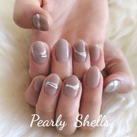 #大人ネイル #ニュアンスネイル #盛岡ネイルサロン #pearlyshells #ハンド #pearly.shell.s #ネイルブック