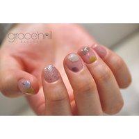 #ハンドネイル #ちゅるんネイル #カジュアルネイル #ショートネイル #grace'nail factory #ネイルブック