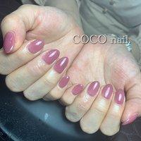 #ハンド #シンプル #ワンカラー #ピンク #coco.nail3.1 #ネイルブック