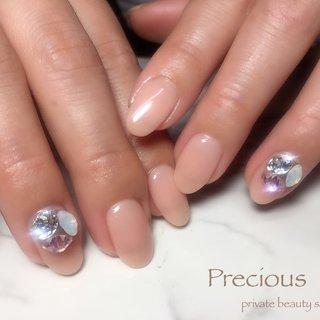. . bijou✩.*˚nails . . . Precious 048-915-5205 . #Precious#privatebeautysaron#越谷ネイルPrecious#定額制#ネイルサロン#越谷#新越谷Precious#ビジューネイル#vカットネイル#シンプルネイル#シアーネイル#koshigaya#saitama#nail#NAIL#bijou nails#japan nails #Precious 〜プレシャス〜 #ネイルブック