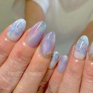 #人気デザイン #梅雨 #ハンド #healthy nails #ネイルブック