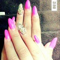 #ハンド #ロング #ピンク #ジェル #お客様 #012501 #ネイルブック
