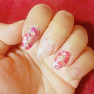 フラワーネイルです! #フラワーネイル #花 #かわいいネイル #オトナ女子ネイル #ピンクネイル #古河市ネイルサロン #古河市 #古河市ネイル #ハンド #ピンク #ちはる #ネイルブック