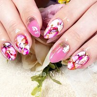 #夏 #ピンクネイル #cinderellanail #ネイルブック