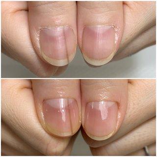.☆.。.:.+*:゚+。 .゚・*..☆.。.:*  #ハンドケア (お手入れのみ) 地爪をキレイに♡  .☆.。.:.+*:゚+。 .゚・*..☆.。.:* #オフィス #ハンド #ショート #お客様 #nail soin #ネイルブック