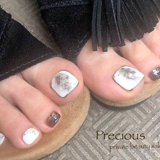 """. . nuance👣foot . . 日に日にフットネイルも 増えてきました♡ オシャレは足元から ٩(ˊᗜˋ*)و"""" . . . Precious 048-915-5205 . #Precious#privatebeautysaron#越谷ネイルPrecious#定額制#ネイルサロン#越谷#新越谷#フットネイル夏#ニュアンス夏#Precious#summer foot nails#koshigaya#saitama#nail#NAIL#cute#foot nails #Precious 〜プレシャス〜 #ネイルブック"""