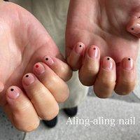 #オールシーズン #ハンド #aling_aling_nail #ネイルブック