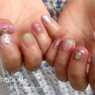 . . nuance♡♡♡ . . . Precious 048-915-5205 . #Precious#privatebeautysaron#越谷ネイルPrecious#定額制#ネイルサロン#越谷#新越谷Precious#ショートニュアンス#ちぐはぐネイル#シェルネイル#ワイヤーネイル#koshigaya#saitama#nail#NAIL#japan nails#japan#short nails#summer nails #Precious 〜プレシャス〜 #ネイルブック