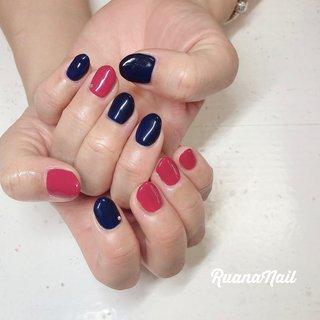 ↞ ↞お客様nail↠ ↠ . . blue&red𓂃 𓇠 𓂅 . . . . . .  南河内郡太子町山田𓆸 . ☾9:30〜17:00(最終受付15:00) . . ☾NailBook からのご予約OK𖤐𖤐 . . ☾DMからのご予約OK𖤐𖤐 . . ✯ ✮ ✵ ✮ ✷ ☽ ⋆ ꙳ ✰ ★ ✬ ⋆ ꙳ #nail#nails#nailart#NAIL#galnail#winternails#nail#nailstagram#footnail#2020#springnails#summernails#プライベートネイルサロン#自宅サロン#キッズスペースあり#ママネイリスト#ワンカラーネイル#アシメネイル#夏ネイル#ネイルサロン#ネイルデザイン#太子町ネイル#南河内 #南河内ネイルサロン #富田林ネイル#太子町#河南町#富田林#羽曳野#藤井寺市 #夏 #オールシーズン #オフィス #ハンド #シンプル #ワンカラー #ショート #レッド #ネイビー #ジェル #お客様 #ruananail ルアナネイル #ネイルブック