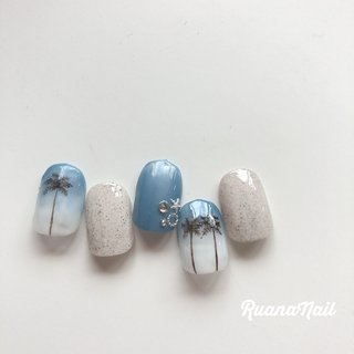 new..↠ ↠ . . 5,000-yen 定額デザイン☽ ☽ . . . summer🌴𓂃 𓇠 𓂅 . . .  南河内郡太子町山田𓆸 . ☾9:30〜17:00(最終受付15:00) . . ☾NailBook からのご予約OK𖤐𖤐 . . ☾DMからのご予約OK𖤐𖤐 . . ✯ ✮ ✵ ✮ ✷ ☽ ⋆ ꙳ ✰ ★ ✬ ⋆ ꙳ #nail#nails#nailart#NAIL#galnail#winternails#nail#nailstagram#2020#springnails#summernails#プライベートネイルサロン#自宅サロン#キッズスペースあり#ママネイリスト#ヤシの木ネイル#グラデーションネイル#個性派ネイル#夏ネイル#ネイルサロン#ネイルデザイン#太子町ネイル#南河内 #南河内ネイルサロン #富田林ネイル#太子町#河南町#富田林#羽曳野#藤井寺市 #夏 #海 #リゾート #浴衣 #ハンド #グラデーション #マリン #ホワイト #ブルー #ジェル #ネイルチップ #ruananail ルアナネイル #ネイルブック