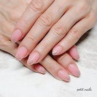 #ハンド #シンプル #ワンカラー #ピンク #ゴールド #ジェル #お客様 #petit_nails -プチネイルズ- #ネイルブック