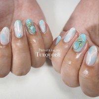 #Private salon Turquoise #ネイルブック