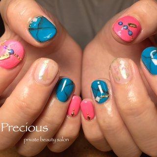. . . summer𓇼 nails . . . Precious 048-915-5205 . #Precious#privatebeautysaron#越谷ネイルPrecious#定額制#ネイルサロン#越谷#新越谷Precious#夏ネイル#海ネイル#サマーネイル2020#大理石ネイル#ターコイズネイル#koshigaya#saitama#nail#NAIL#cute#follow me#follow #Precious 〜プレシャス〜 #ネイルブック