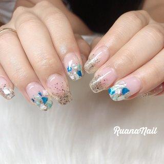 ↞ ↞お客様nail↠ ↠ . . ラメグラ&シェル𓂃 𓇠 𓂅 . . .夏nailが増えてきましたぁ🌈🌈 . .  南河内郡太子町山田𓆸 . ☾9:30〜17:00(最終受付15:00) . . ☾NailBook からのご予約OK𖤐𖤐 . . ☾DMからのご予約OK𖤐𖤐 . . ✯ ✮ ✵ ✮ ✷ ☽ ⋆ ꙳ ✰ ★ ✬ ⋆ ꙳ #nail#nails#nailart#NAIL#galnail#winternails#nail#nailstagram#footnail#2020#springnails#summernails#プライベートネイルサロン#自宅サロン#キッズスペースあり#ママネイリスト#ラメグラデーション#シェルネイル#ラメネイル#夏ネイル#ネイルサロン#ネイルデザイン#太子町ネイル#南河内 #南河内ネイルサロン #富田林ネイル#太子町#河南町#富田林#羽曳野#藤井寺市 #夏 #七夕 #海 #リゾート #ハンド #ラメ #グラデーション #シェル #ミディアム #水色 #ゴールド #シルバー #ジェル #お客様 #ruananail ルアナネイル #ネイルブック