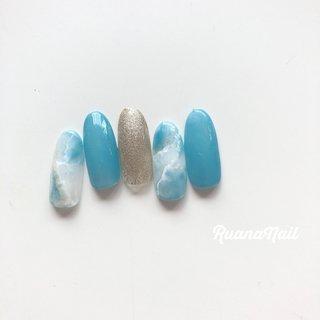 new..↠ ↠ . . 4,500-yen 定額デザイン☽ ☽ . . . summer𓂃 𓇠 𓂅 . . .  南河内郡太子町山田𓆸 . ☾9:30〜17:00(最終受付15:00) . . ☾NailBook からのご予約OK𖤐𖤐 . . ☾DMからのご予約OK𖤐𖤐 . . ✯ ✮ ✵ ✮ ✷ ☽ ⋆ ꙳ ✰ ★ ✬ ⋆ ꙳ #nail#nails#nailart#NAIL#galnail#winternails#nail#nailstagram#footnail#2020#springnails#summernails#プライベートネイルサロン#自宅サロン#キッズスペースあり#ママネイリスト#ニュアンスネイル#大理石ネイル#夏ネイル#タイダイネイル#ネイルサロン#ネイルデザイン#太子町ネイル#南河内 #南河内ネイルサロン #富田林ネイル#太子町#河南町#富田林#羽曳野#藤井寺市 #夏 #海 #リゾート #浴衣 #ハンド #ラメ #タイダイ #大理石 #ホワイト #ターコイズ #水色 #ジェル #ネイルチップ #ruananail ルアナネイル #ネイルブック