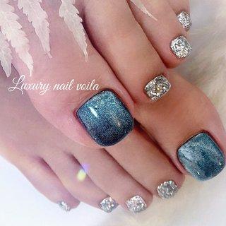 ". . . ""star galaxy × glitter "" . . footにもハマる!! . one color style は質感で差をつけよう✊🏻✊🏻 . . #luxurynailvoila #footnail #toenails #stargalaxy #glitternails #nail #nails #nailstagram #naillove #jelnails #フットネイル夏 #フットネイル #フットネイルデザイン #小岩ネイル #小岩ネイルサロン #江戸川区ネイルサロン #icejel #海外ファッション #トレンドスタイル #スターギャラクシーネイル #キャッツアイネイル #キラキラネイル #ネイル #ネイルデザイン #ファッションネイル #オシャレネイル #夏ネイル #サマーネイル #Nailist maki #ネイルブック"