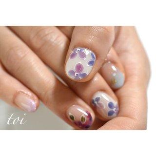 #紫陽花ネイル 大人気です😊 #梅雨 #ハンド #atelier toi #ネイルブック