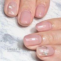 #カラーグラデ#ピンク#ハンド #ミラーアート#シンプル#オフィス #グラデーション #ピンク #nail room Laule'a_eri #ネイルブック