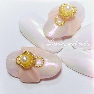 """. . . """"Cuuuuute coordinate..."""" . 夏の可愛いシリーズ💕 . ふんわりマーメイドカラーで可愛いくmakeup 💕💕💕💕 . #luxurynailvoila #nail #nails #jelnails #nailart #naildesign #3dネイル #marmaidcolors #japannail #prettynails #kawaii #小岩ネイル #小岩ネイルサロン #可愛い女の子 #可愛いネイル #リボンネイル #マーメイドカラーネイル #大人可愛いネイル #夏ネイル #ネイル #プライベートサロン #大人可愛いコーデ #Nailist maki #ネイルブック"""
