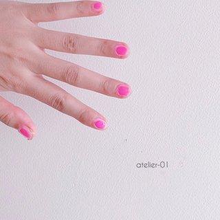 #夏 #オールシーズン #3D #チーク #ニュアンス #クリア #ピンク #ジェル #atelier-01 #ネイルブック