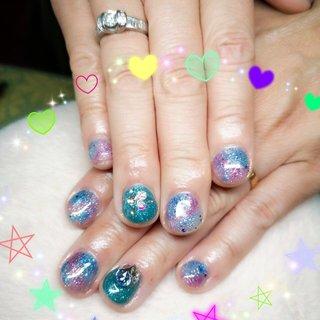 #紫陽花 #夏 #ハンド #ショート #Uemura Rinze Tomoko #ネイルブック