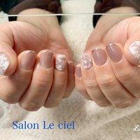 #ハンド #フラワー #シンプル #Salon_Le_ciel #ネイルブック