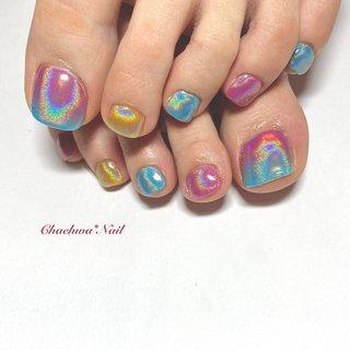 ぴんくブルー×ユニコーン♡ . キラキラオーロラフット(o^^o) 差し色の黄色がアクセントに♪ . #nail #nails #naildesign #nailart #likeforlikes #instagram #footnail #art #painting #chaehwanail #ネイル#ネイルデザイン #おしゃれネイル #フットネイル #ユニコーン #グラデーション #ミラーネイル #派手ネイル #ピンクネイル #ジェルネイル #川崎ネイルサロン #川崎 #神奈川 #귀여운 #네일#네일아트#네일스타그램 #젤네일 #발스타그램 #美甲 . . . ご予約は↓からお願いします! *ネイルブックネット予約(プロフィールのURLから予約可能!) . お問い合わせは↓からお願いします! *LINE@ : @chaehwa_nail(@から検索) *Instagram DM : @chaehwa_nail . ご連絡お待ちしております(*´꒳`*)♪ Chaehwa*Nail #夏 #オールシーズン #旅行 #リゾート #フット #グラデーション #ワンカラー #バイカラー #ユニコーン #ミラー #ミディアム #ピンク #イエロー #水色 #ジェル #お客様 #chaehwa_8127 #ネイルブック