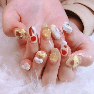 プリンだらけネイル🍮😋💛  とってもかわいいです💕ありがとうございました🌈   #ネイル #ジェルネイル #ネイルアート #nail #nails #nailart #gelnail #福岡ネイル #福岡ネイルサロン #大牟田ネイル #美甲 #ポムポムプリン #プリンネイル #ゆめかわネイル #夏 #ラメ #ハート #フェザー #キャラクター #3D #イエロー #saki_cinnamon #ネイルブック
