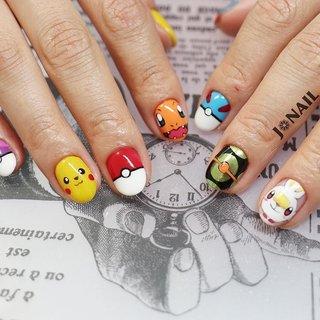 """•ノーマルコース❁︎•  今回はポケモンにして欲しくて…… とのご要望❁︎ 描いて欲しいキャラの画像とモンスターボールを選んでもらいSTARTッ!!!!  可愛く仕上がりました♡♡ 息子ちゃんも お気に召されたようで♥♥♥  ご予約はDM.LINE.Nailie.Nailbookにて受け付けております*˙︶˙*)ノ""""  @agehanails  @agehagel  @presto_official_nl   #GEL#GELNAIL##gel#gelnail #agehagel#Prestogel #naildesign#nailart #ジェル#ネイル#ジェルネイル#ネイルアート#ポケモンネイル#手描きネイル#キャラクターネイル#ピカチュウネイル #いいね#フォロー#し放題 #女子#女子力 #モチベーションアップ #テンションあがるッ!! #大阪ネイル#堺市ネイル#堺市西区ネイルサロン #J❁︎NAIL #オールシーズン #ライブ #ハロウィン #ハンド #キャラクター #ショート #カラフル #ジェル #お客様 #★ぢゅん★ #ネイルブック"""