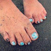 ❈ ❈ #beachnails #summernails #コンチョネイル #glassy wave【グラッシーウェーブ】 #ネイルブック