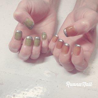 ↞ ↞お客様nail↠ ↠ . .𓂃 𓇠 𓂅 .  透け感たっぷりのカーキ&ブラウン . . . .  南河内郡太子町山田𓆸 . ☾9:30〜17:00(最終受付15:00) . . ☾NailBook からのご予約OK𖤐𖤐 . . ☾DMからのご予約OK𖤐𖤐 . . ✯ ✮ ✵ ✮ ✷ ☽ ⋆ ꙳ ✰ ★ ✬ ⋆ ꙳ #nail#nails#nailart#NAIL#galnail#winternails#nail#nailstagram#footnail#2020#springnails#summernails#プライベートネイルサロン#自宅サロン#キッズスペースあり#ママネイリスト#メタリックネイル#透け感ネイル#アシメネイル#夏ネイル#ネイルサロン#ネイルデザイン#太子町ネイル#南河内 #南河内ネイルサロン #富田林ネイル#太子町#河南町#富田林#羽曳野#藤井寺市 #夏 #梅雨 #七夕 #海 #ハンド #シンプル #フレンチ #ワンカラー #ショート #オレンジ #グリーン #シルバー #ジェル #ruananail ルアナネイル #ネイルブック