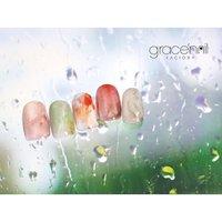 雨のち晴れ  一日も早く 穏やかな日が訪れますように #オールシーズン #grace'nail factory #ネイルブック