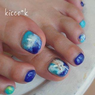 初めて描いた #ユニコーン 😜 に夏の空 幻想的に……  #sky #unicorns #footnails #blue#nail #nails #nailsalon #instanails #nailswag #nailstagram #nailart #naildesign #gelnails #manicurist #ネイル #ネイルデザイン #大人ネイル #ジェルネイル #ネイルサロン #八潮市 #八潮ネイル #八潮ネイルサロン #足立区ネイルサロン#北千住ネイルサロン #六町ネイル #三郷ネイル #草加ネイル #自宅サロン #kicco_k #夏 #海 #リゾート #女子会 #フット #ニュアンス #ユニコーン #ショート #ホワイト #水色 #ブルー #ジェル #お客様 #kicco_k.nail #ネイルブック