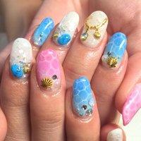 #Nailbook #夏 #ハンド #お客様 #miyu_yuura #ネイルブック