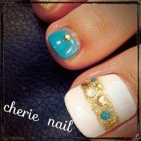 #フット #ホワイト #お客様 #cherie nail #ネイルブック
