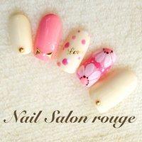 #Nailbook #春 #ハンド #フラワー #ホワイト #ジェル #ネイルチップ #Nail Salon rouge #ネイルブック