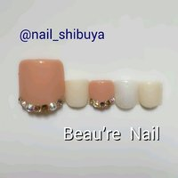 #フット #ネイルチップ #渋谷Beau're nail #ネイルブック
