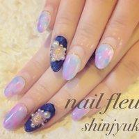 #Nailbook #夏 #ハンド #デニム #ロング #カラフル #ジェル #お客様 #nail_fleur #ネイルブック