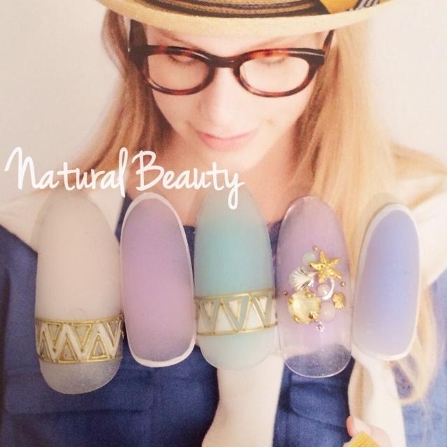 #Nailbook #ミディアム #パステル #マット #ハンド #夏 #ジェルネイル #ネイルチップ #naturalbeauty #ネイルブック
