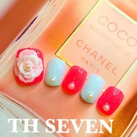 #Nailbook #春 #フット #3D #ピンク #ジェル #ネイルチップ #田井博子 #ネイルブック