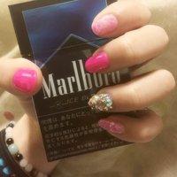 #Nailbook #春 #ハンド #マーブル #ピンク #ku_miki #ネイルブック