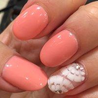今回はソフトネオンのピンク♪( ´▽`) #春 #ハンド #ピーコック #ピンク #ジェル #rumiko_37 #ネイルブック