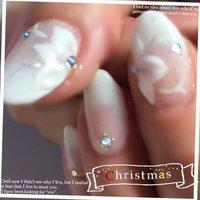 #Nailbook #クリスマス #ハンド #グラデーション #ホワイト #ジェル #お客様 #shell_nail #ネイルブック